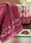 Toalha de Banho Jacquard  Rosa
