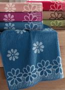 Toalha de Banho Flores  Azul