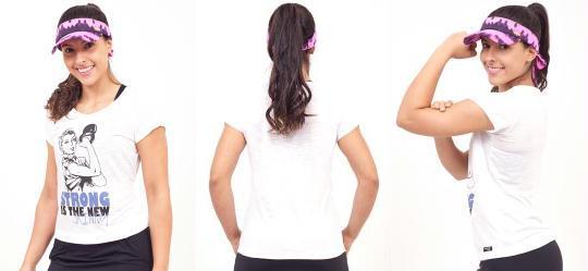 Blusa Branca com Estampa Janfer