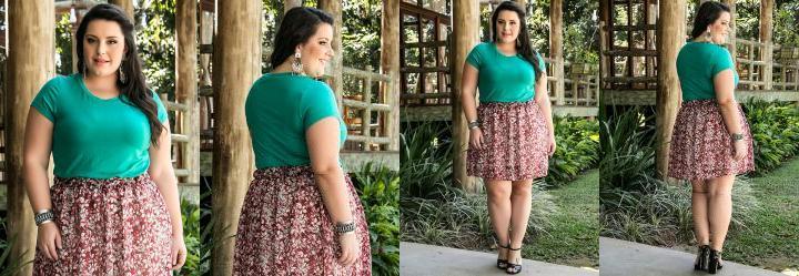 Blusa B�sica Verde Miss Masy Plus