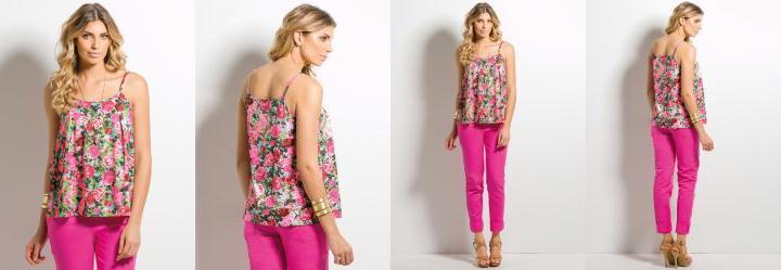 Blusa de Al�a Ampla Floral