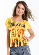 Blusa  Amarela Estampada