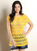 Blusa Tric� Amarela