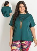 Blusa Ampla  Verde  Plus Size