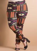 Legging Estampa �tnica Plus Size