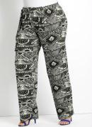 Cal�a Pantalona  Estampa �tnica  Plus Size