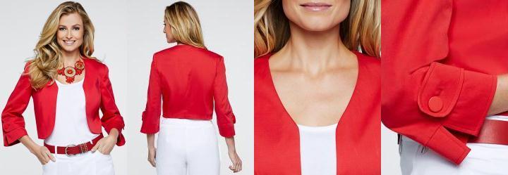 Jaqueta Bolero Vermelho
