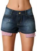 Short  Jeans Azul  Feminino