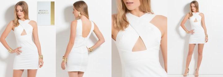 Vestido Colcci Transpassado Branco