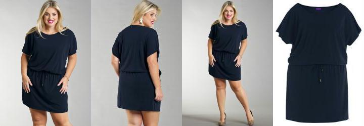 Vestido Curto Plus Size Marinho