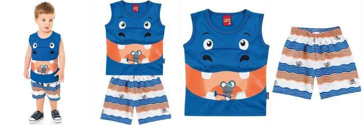 Conjunto Infantil Menino Kyly Azul