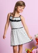 Vestido Infantil  Branco Estampa Po�