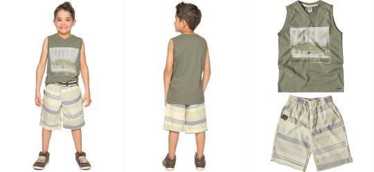 Conjunto Infantil Masculino Cinza Carinhoso