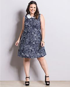 Vestido Cashmere Azul Plus Size