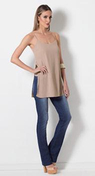 Blusa Alongada e Calça Jeans