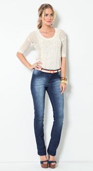 Blusa de Tricô e Calça Jeans