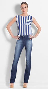 Blusa Listrada e Calça Jeans