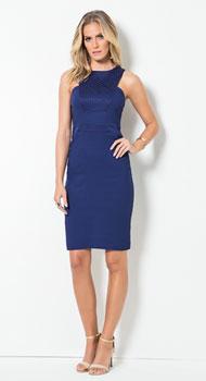 Vestido Azul Sem Mangas
