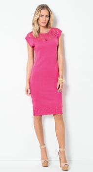 Vestido em Tricô Pink