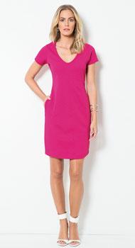 Vestido Pink com Bolsos