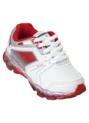 Tênis Infantil Menina Branco e Vermelho