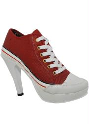 Sneaker Cano Baixo Vermelho