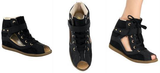 Sneaker Vazado com Spikes Preto