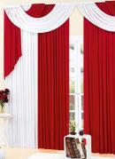 Cortina com Band�  Vermelha  3m