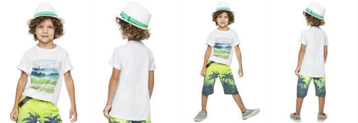 Camiseta Infantil Branca Brasileirinhos