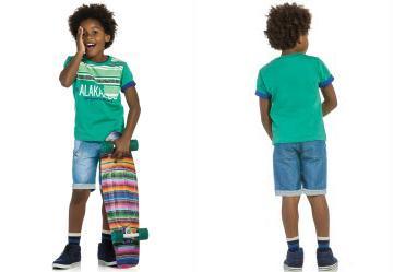Conjunto Camiseta e Bermuda Alakazoo Verde