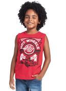 Camiseta Regata Vermelho Licenciados