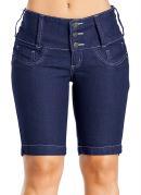 Bermuda Jeans Feminina  Azul