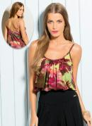 Blusa de Al�a Estampa Tropical