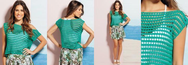 Blusa Tricô Verde