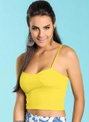 Top Cropped  Amarelo