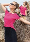 Blusa Detalhe Renda no Ombro Pink