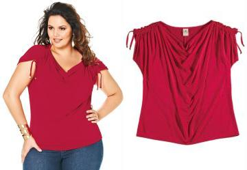 Blusa Drapeada Lunender Plus Vermelho