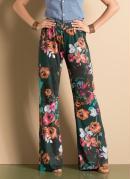Cal�a Pantalona Floral Verde