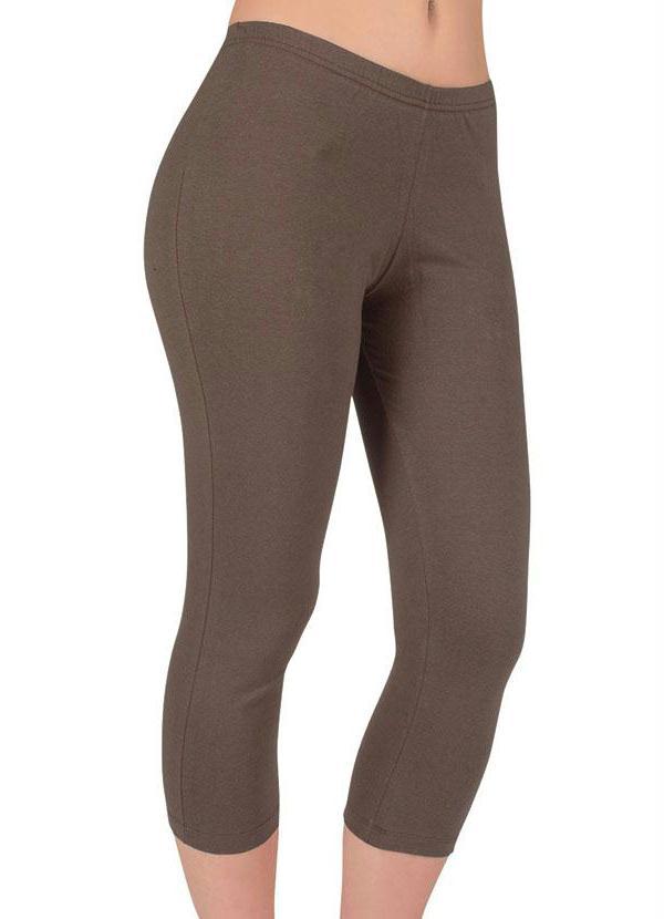 Cal�a Legging (Marrom) em Cotton