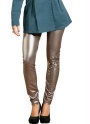 calça legging prata