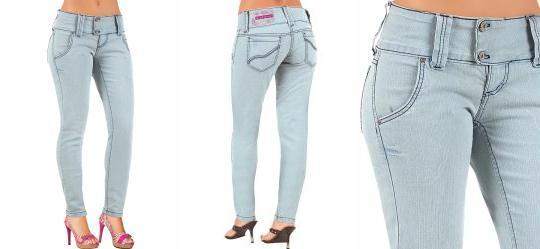 Calça Jeans Claro Cós Largo