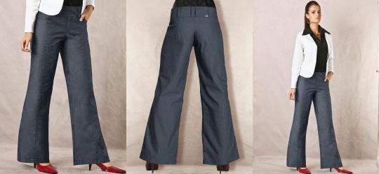 Calca Pantalona Azul
