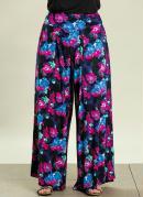 Calca Pantalona  Estampa Floral  Plus Size