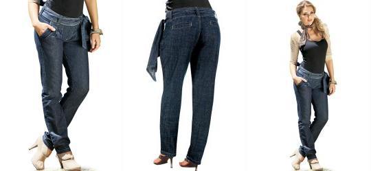 Calça Saruel Jeans com Faixa