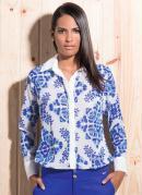 Camisa Chiffon  Estampa de Azulejo