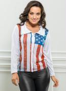 Camisa   Estampa Bandeira dos Eua
