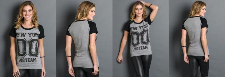 T-Shirt Number Cinza