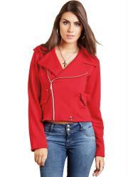 casaco vermelho estilo perfecto