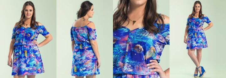 Vestido Evas� Azul Wee