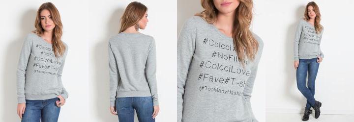 Blus�o Mescla Hashtag Colcci